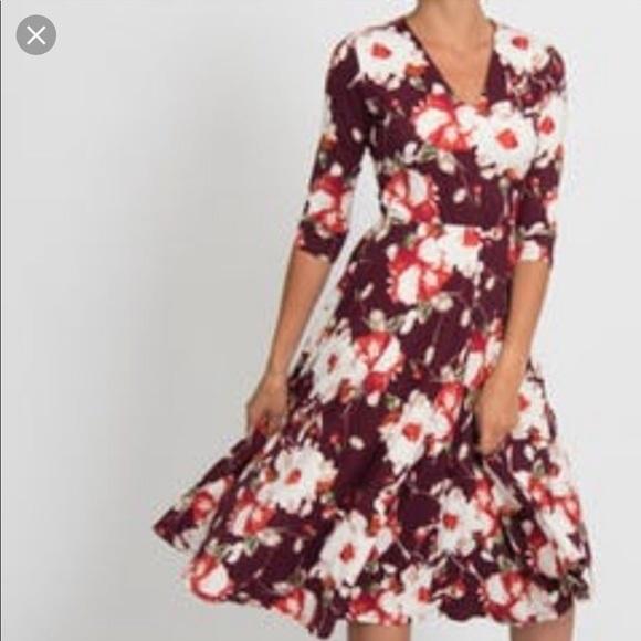Agnes & Dora Dresses & Skirts - Agnes and Dora Floral Midi Dress with Pockets XXL